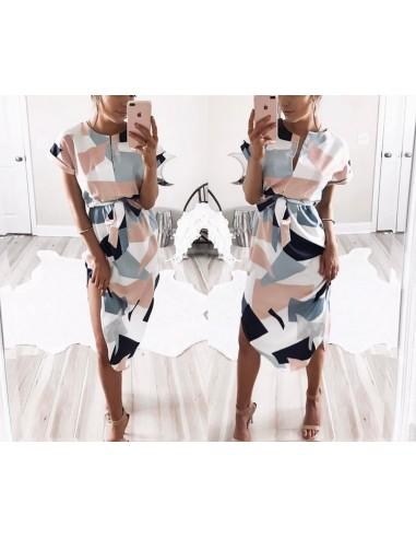 Robe d'été Boho Style géométrique